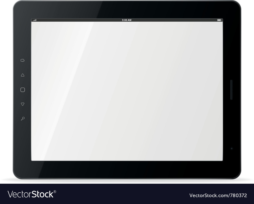 Tablet computer trendy ipad theme devices vector