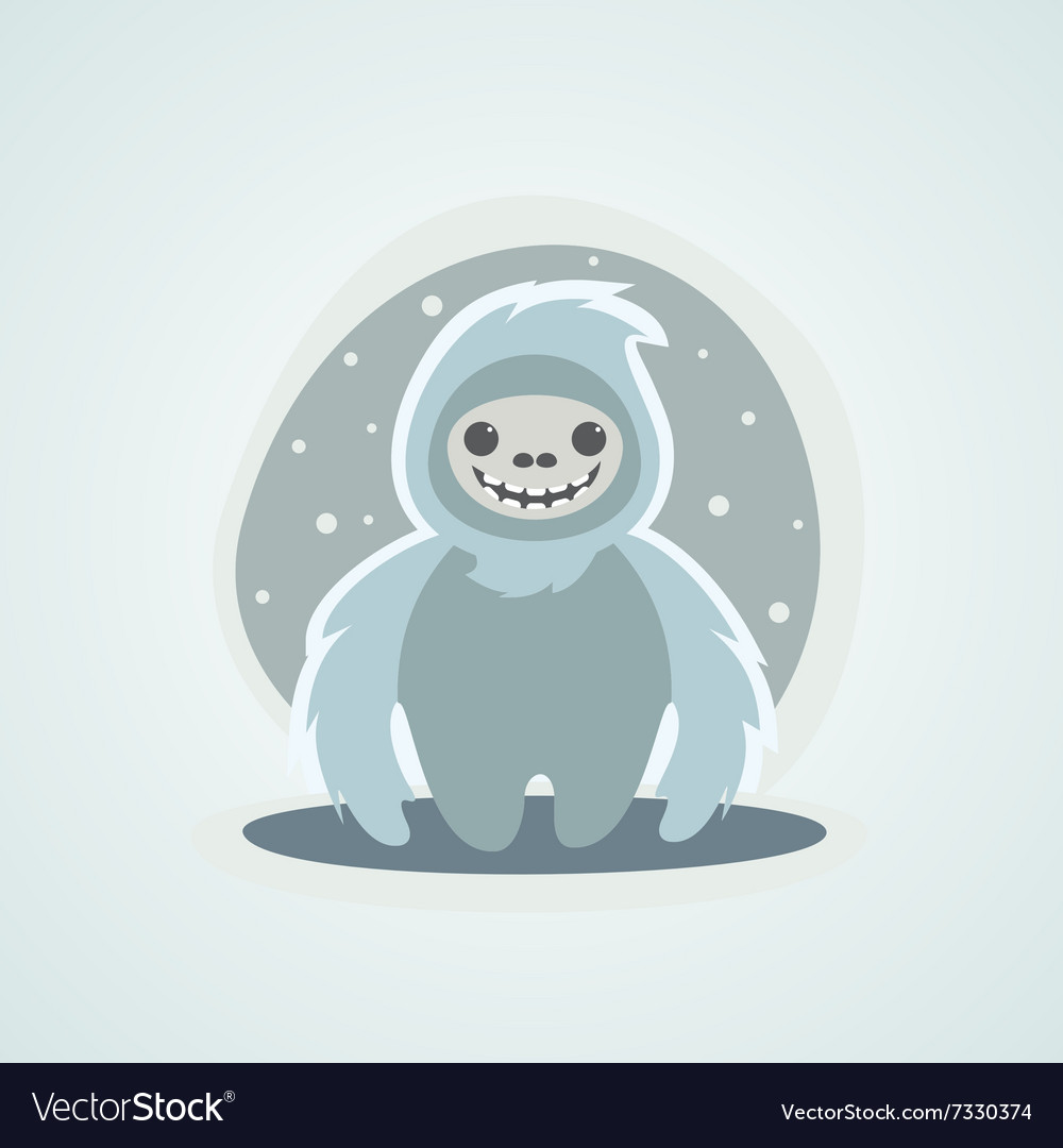 Yeti snowman bigfoot is a unique of vector