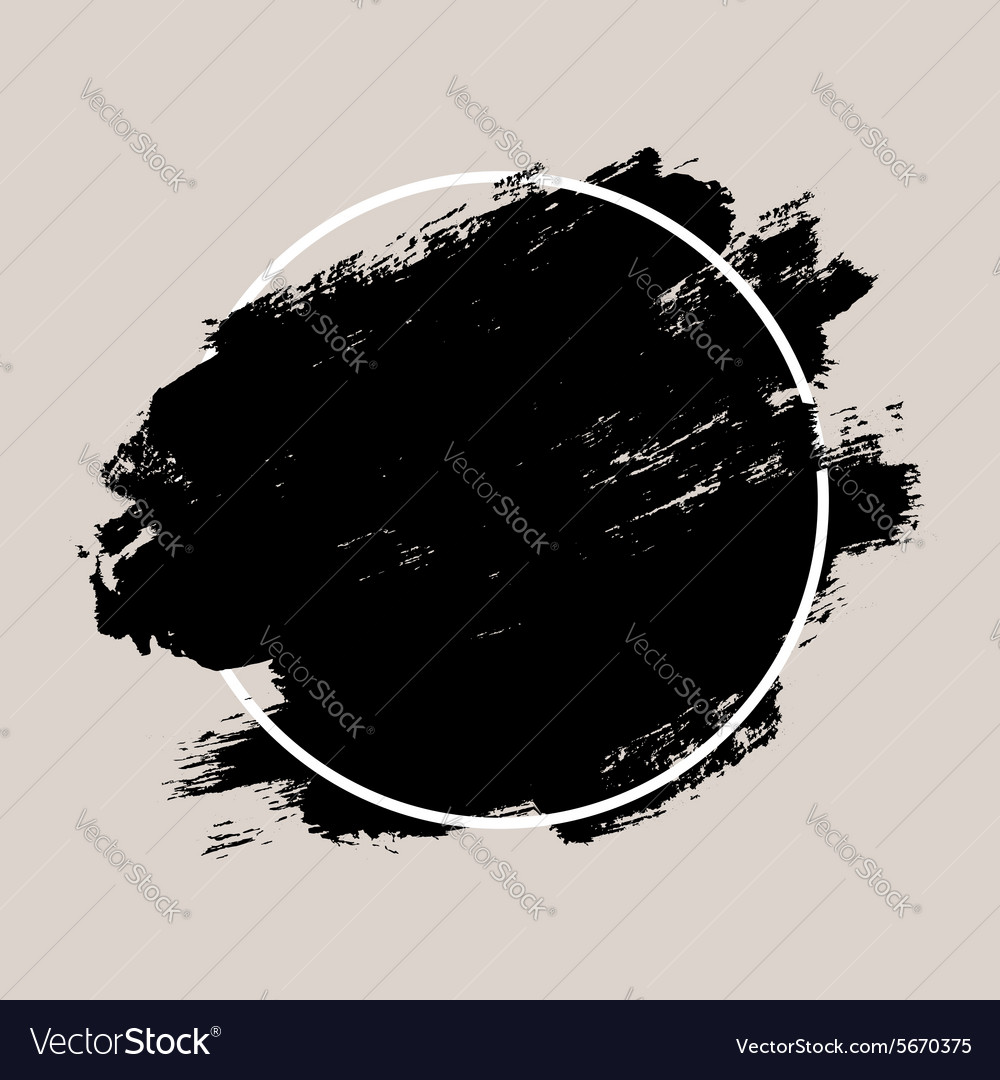Abstract hand painted textured ink brush backgroun vector