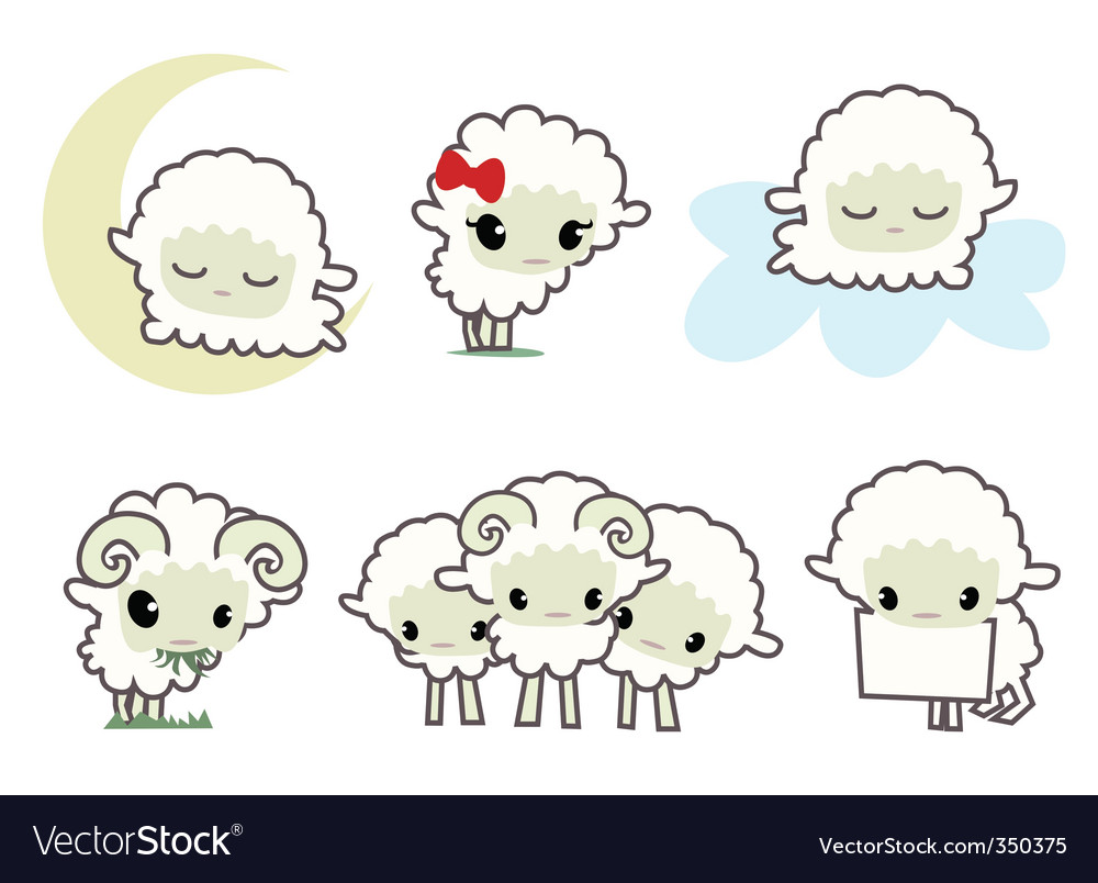 Little sheeps vector
