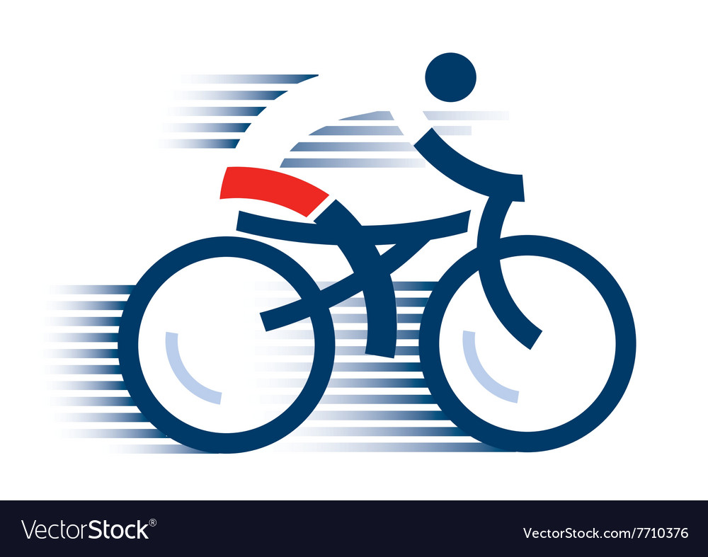 Abstract cyclist vector