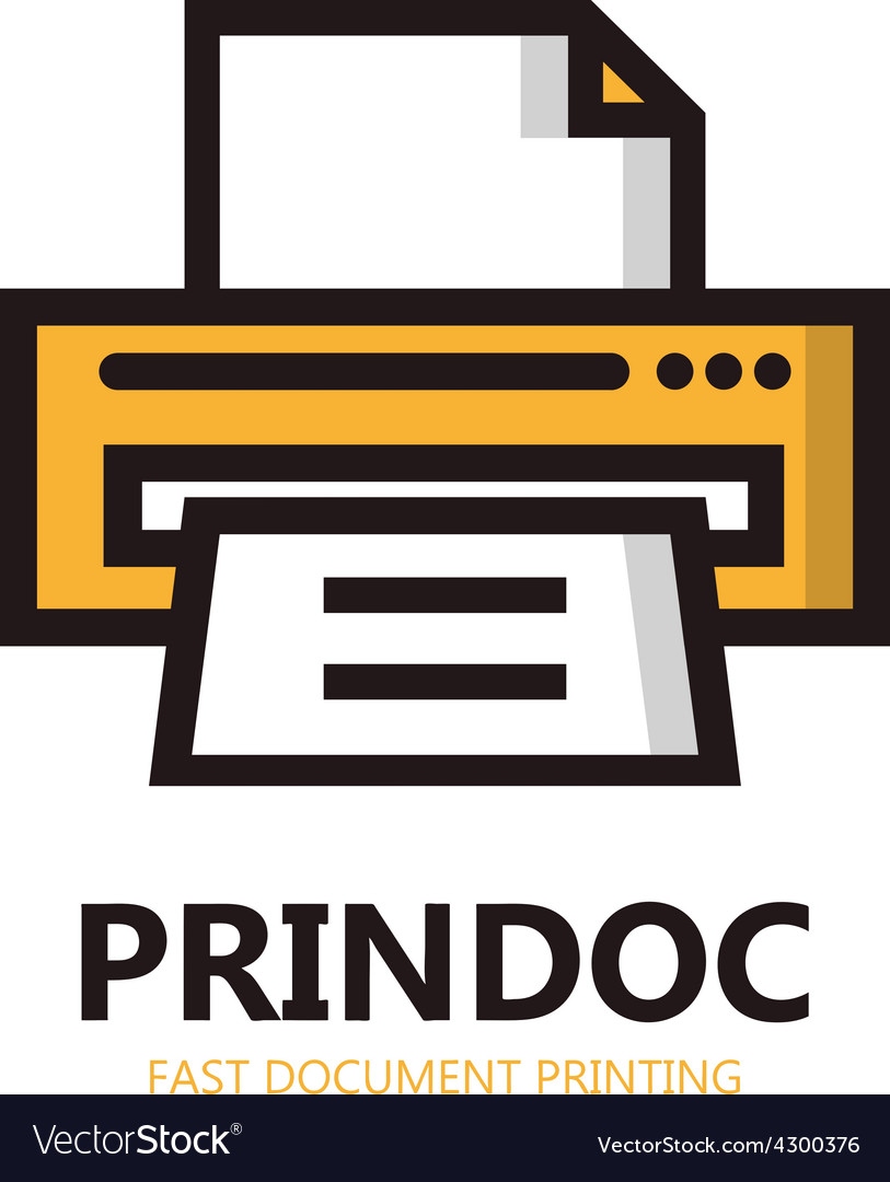 Printer icon or logo vector