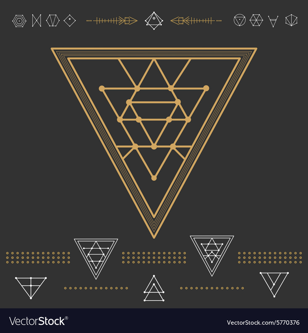 Set of geometric hipster shapes 9zn72211black vector