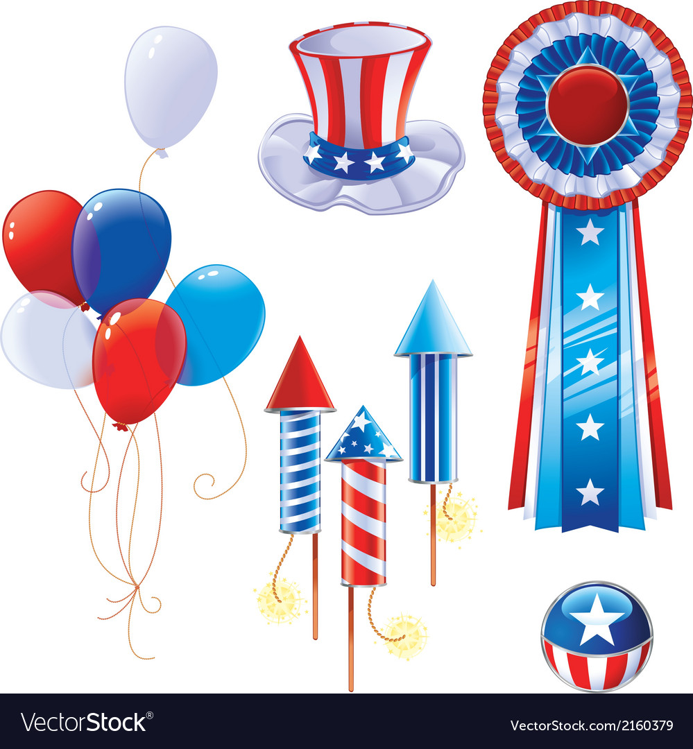 Fourth of july symbols vector