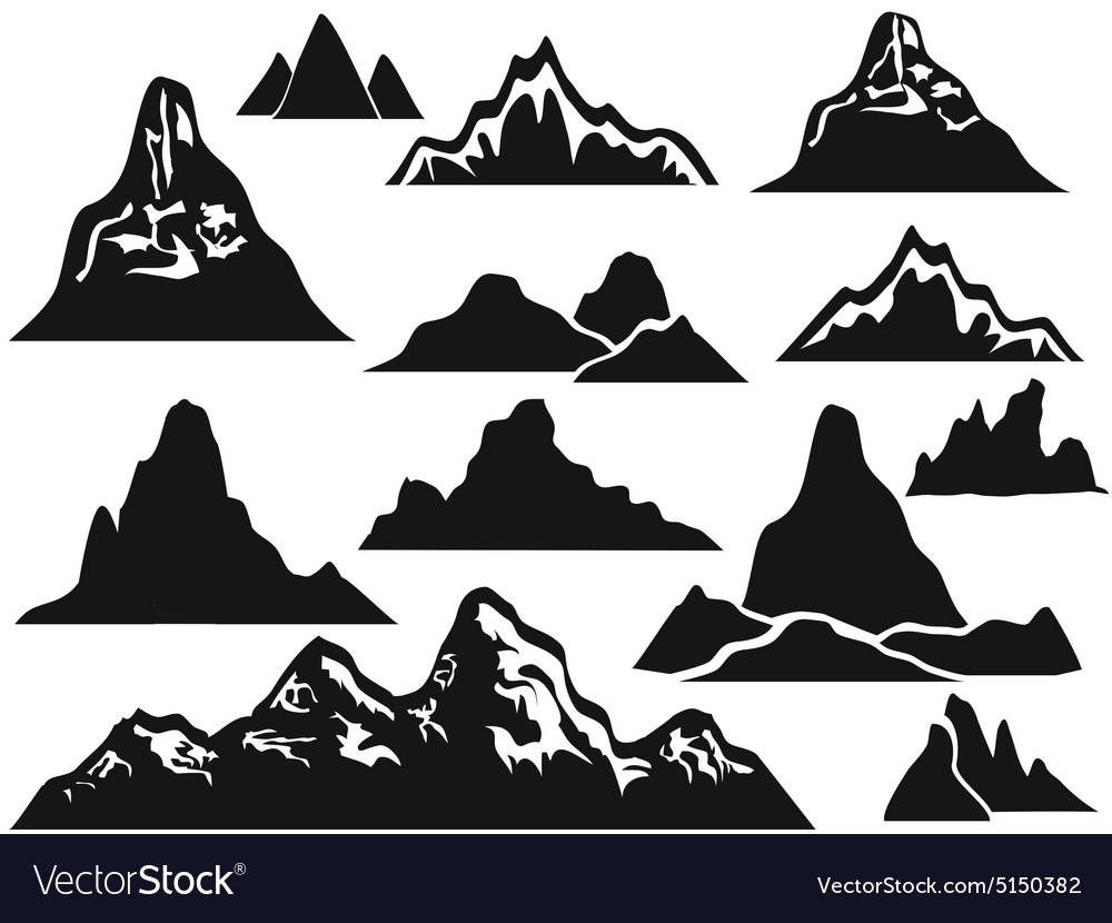 Mountain silhouettes vector