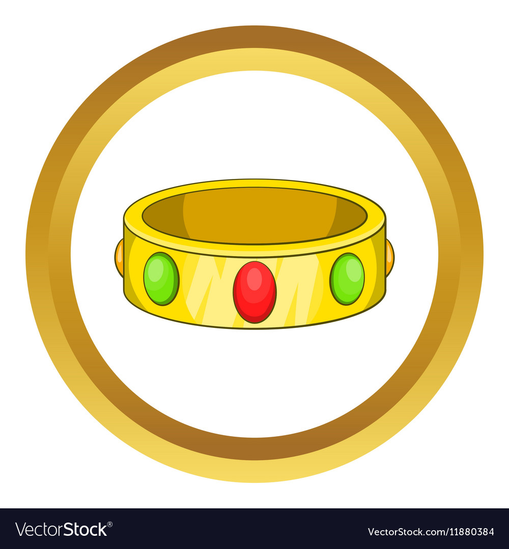 Ancient bracelet icon vector