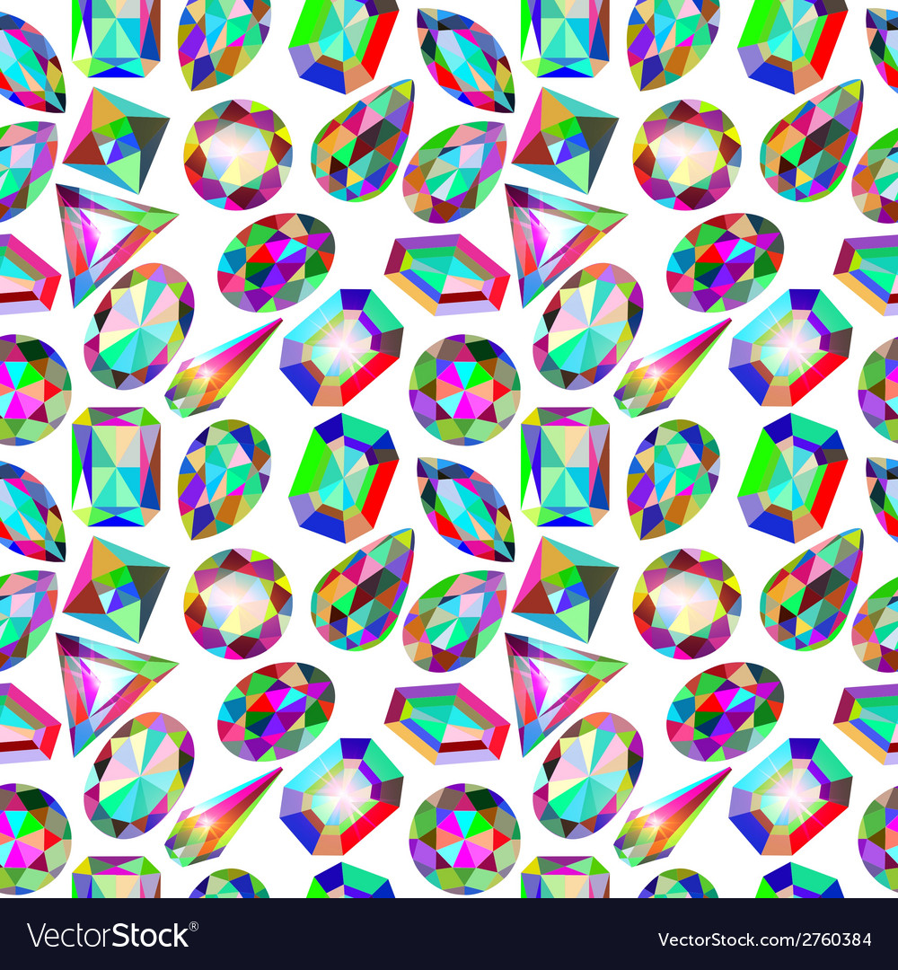 Background seamless placer precious stones vector