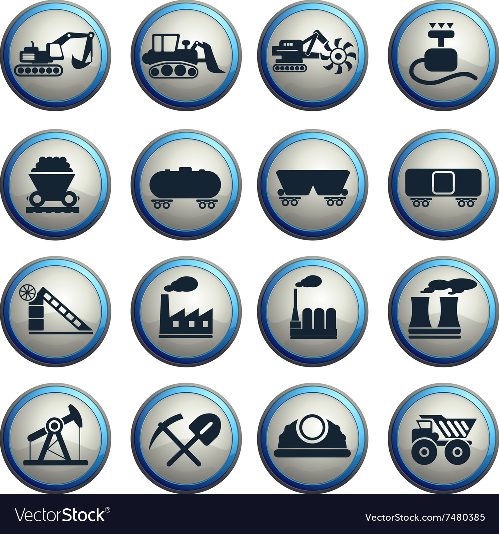 Factory and industry symbols vector