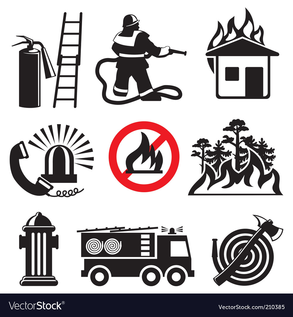 Fire safety vector