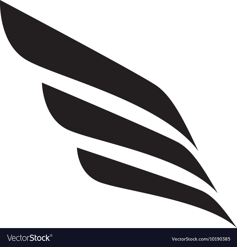 Wing modern strippes three icon graphic vector