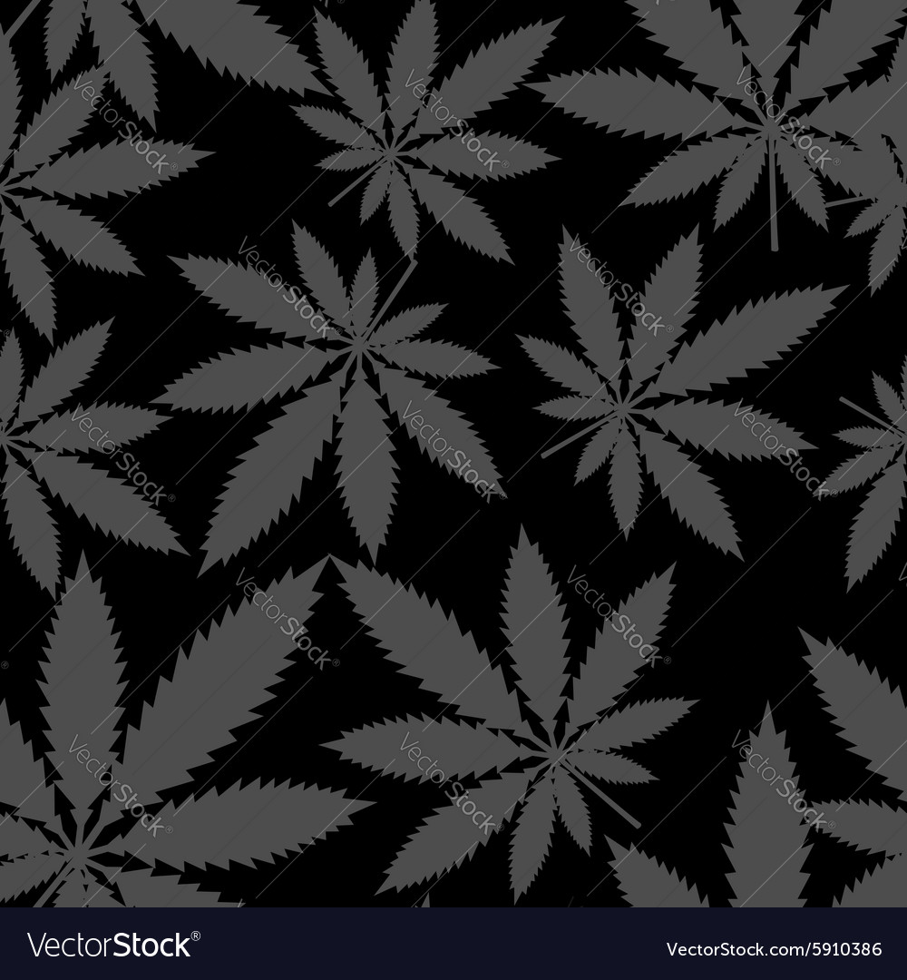 Seamless pattern  marijuana cannabis vector