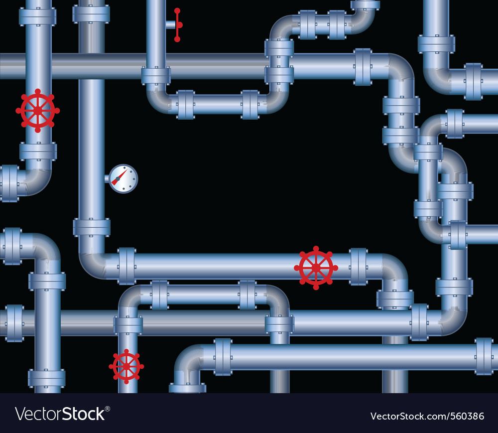 Steel piping vector