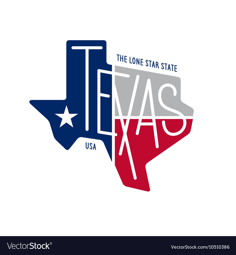 Texas related tshirt design the lone star state vector