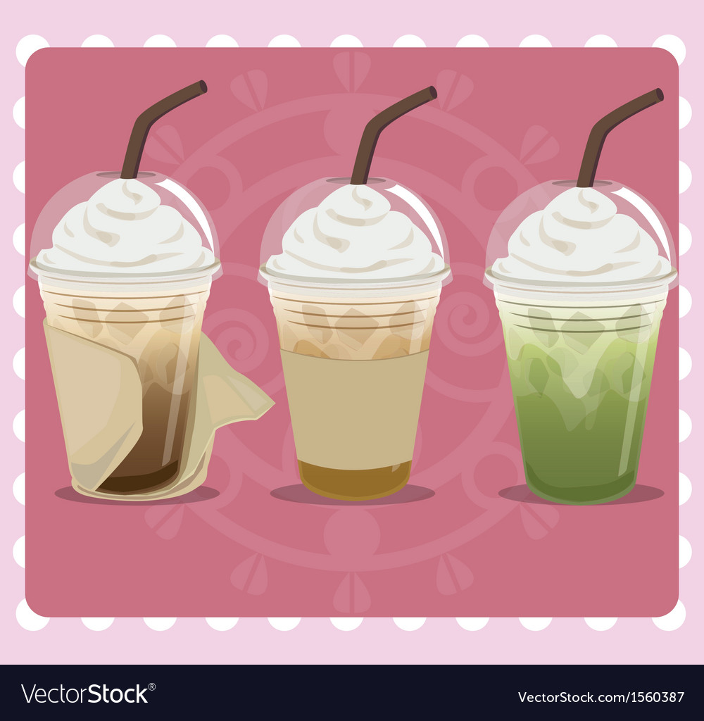 Ice coffee vector
