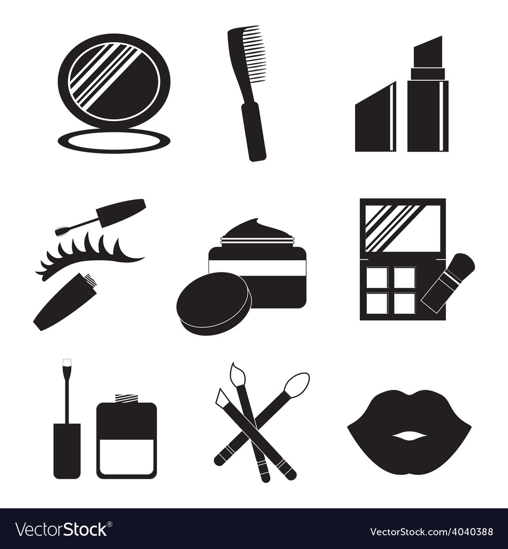 Make up design over white background vector