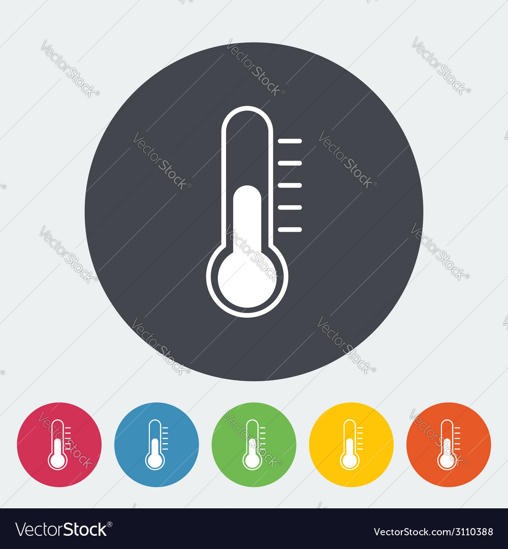 Mometer flat icon vector