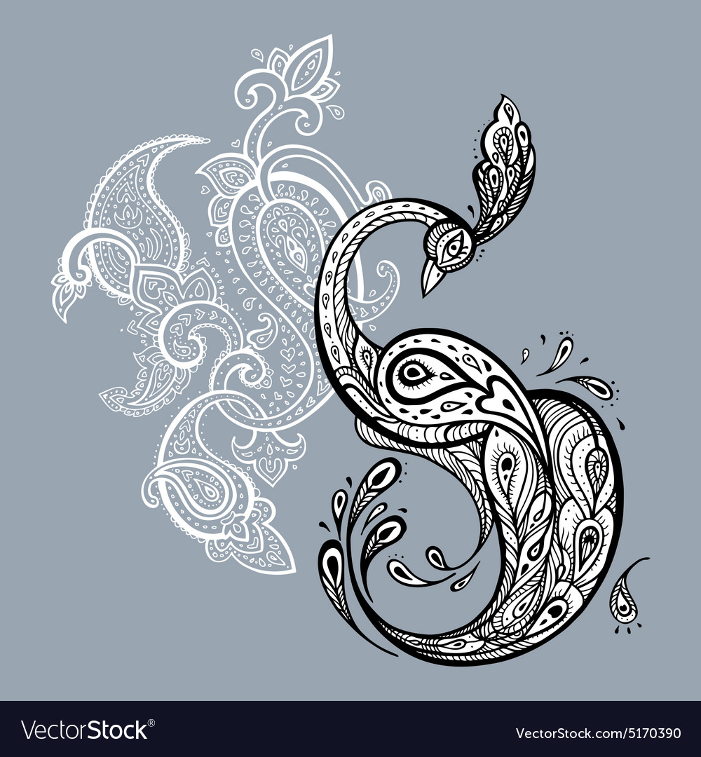 Peacock decorative vector