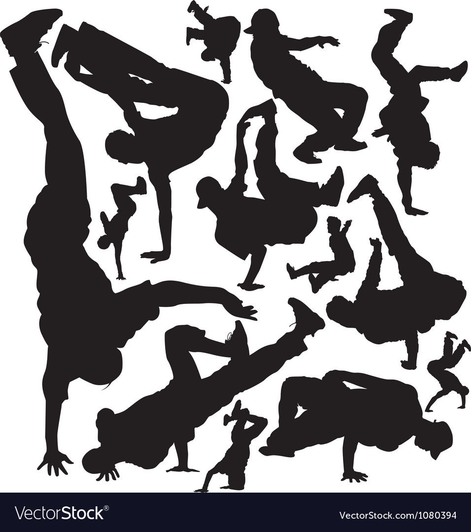 Break dance vector