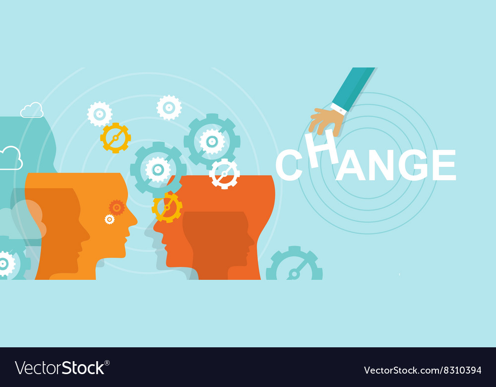 Change management concept improvement direction vector
