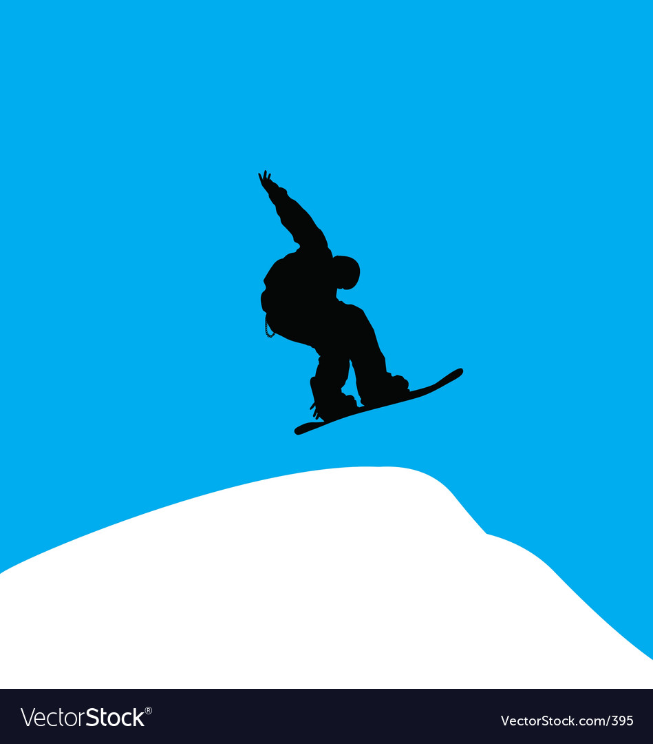 Snowboarder backside grab vector