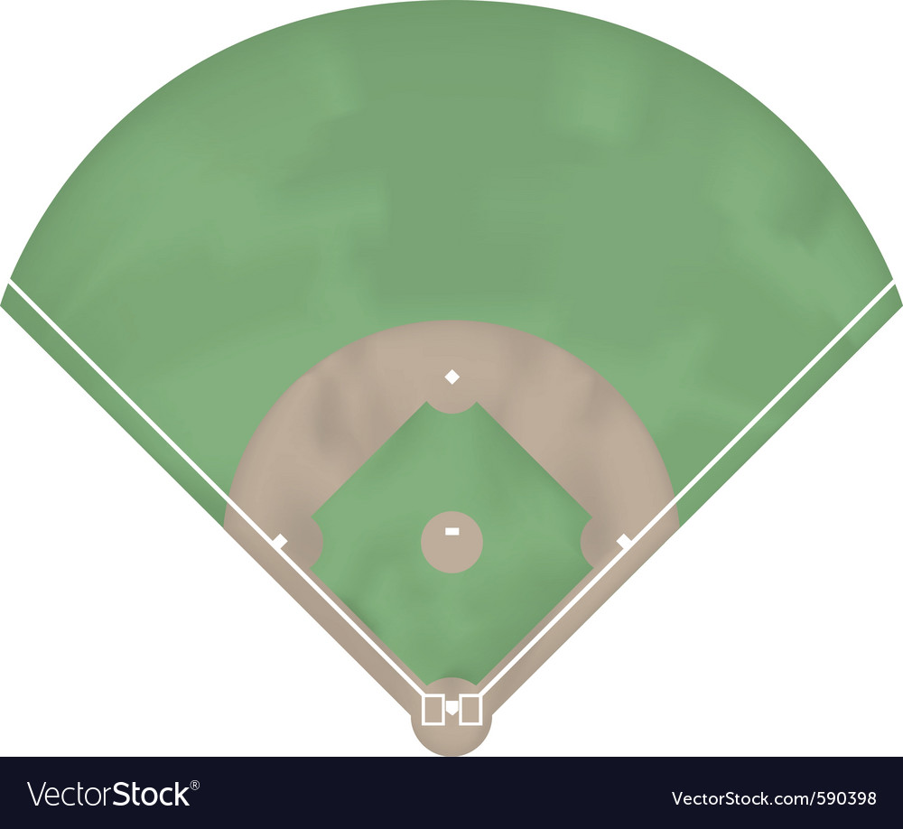 Baseball ground vector