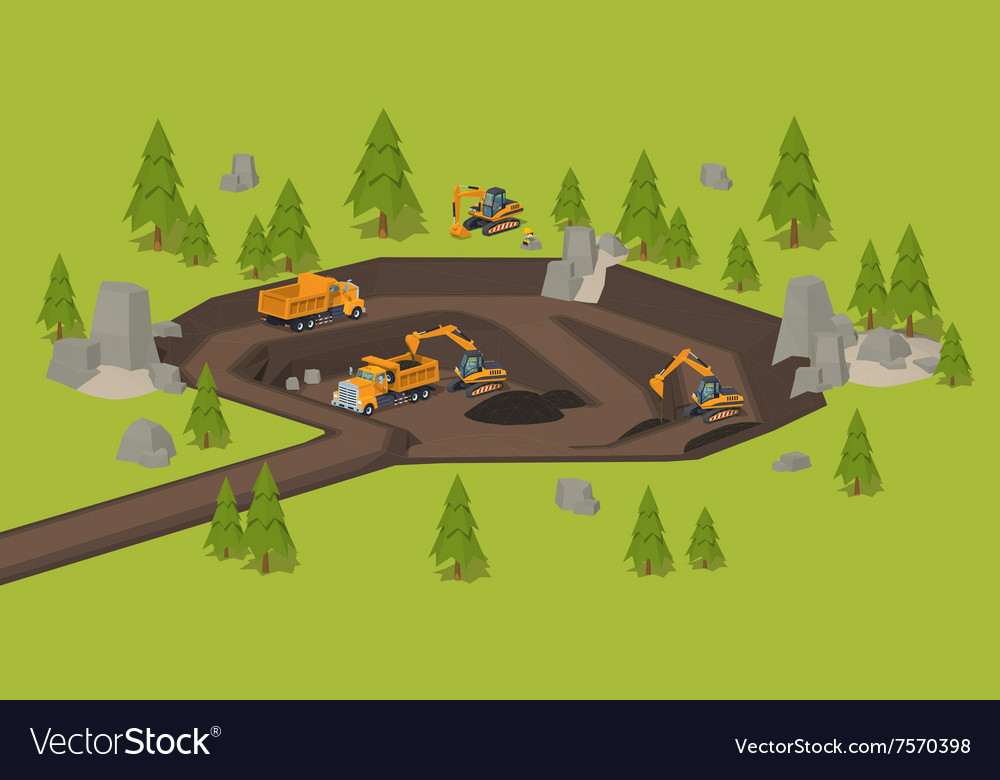 Quarry dig site vector