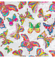 Seamless color butterflies vector image