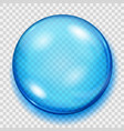 transparent blue sphere with shadow vector image