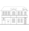 heritage mansion building vector image vector image