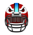 Football helmet with eyes vector image
