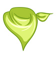 A yellowgreen scarf vector image