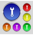 Wrench key sign icon Service tool symbol Set vector image