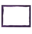 Violet grunge frame vector image vector image