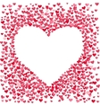 Blank heart made of small confetti hearts vector image vector image