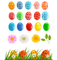 set with eggs vector image