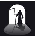 Grim reaper silhouette vector image vector image