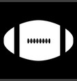 american football ball it is the white color icon vector image