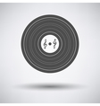 Analogue record icon vector image