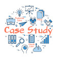 blue round case study concept vector image