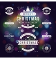 Christmas Decorations Design Elements vector image