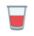 delicious juice glass vector image