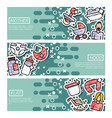 set of horizontal banners about motherhood vector image