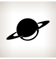Silhouette planet Saturn on a light background vector image