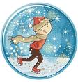 Ice Skating Kid Snow Globe vector image vector image