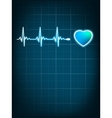 Heart beating monitor EPS 8 vector image vector image