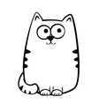 Joyful tabby cat vector image vector image