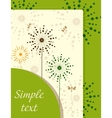 Ecological booklet with dandelions vector image vector image