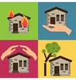 Home insurance vector image