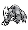 Angry rhino ready to ram vector image