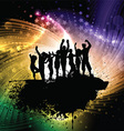 Grunge party people background vector image